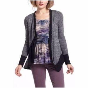 Anthropologie Meadow Rue asymmetrical cardigan